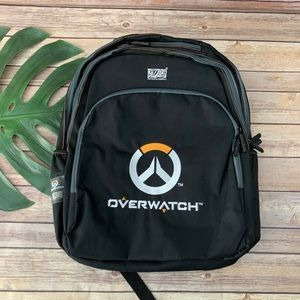 Blizzard Overwatch black embroidered logo backpack